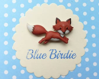 Fox brooch fox jewelry fox badge running fox brooch fox jewellery cute fox jewelry fox gifts