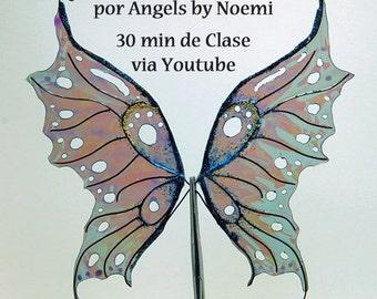 """Online  Class in Spanish """"Haciendo Alas de Hadas""""  con Papel Angelina"""