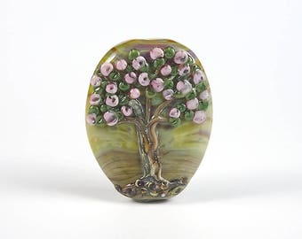 Lampwork Glass Focal Tree Bead