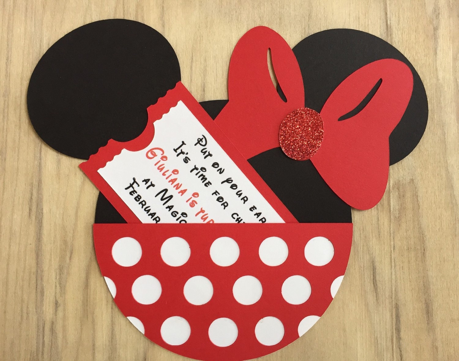 10 Minnie Mouse Birthday Party Invitations Customized Minnie