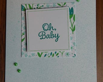 Floral Baby Card