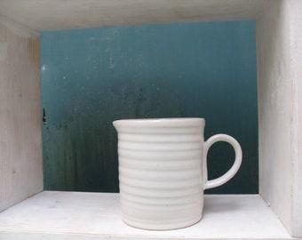 Stoneware Pottery Jug in White celadon glaze
