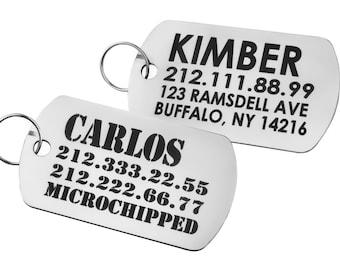 Military Dog Tags, Dog ID Tag, Dog Tag for Collar, Laser Engraved Military ID Tag, Custom Dog ID Tag