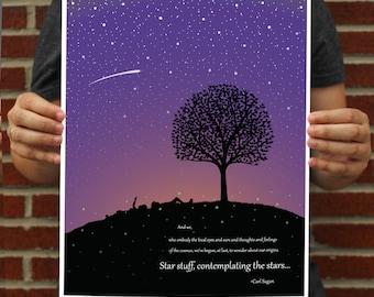 Carl Sagan Poster // Carl Sagan Art Print