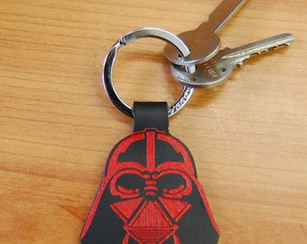 Leather Darth Vader Key Ring