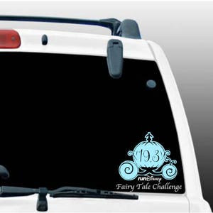 Run Disney Fairy Tale Challenge Car Window Decal/19.3/Princess Weekend