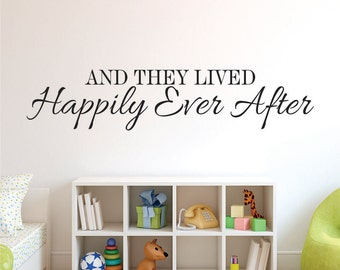 Wall Decals - Happily Ever After Wall Decals - Vinyl Wall Decal Happily Ever After - And They Lived Decal - Happily Ever After Decal