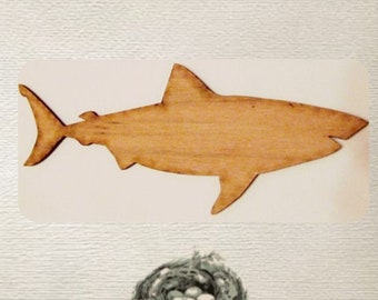 Shark / Great White Shark (Large ) Wood Cut Out -  Laser Cut