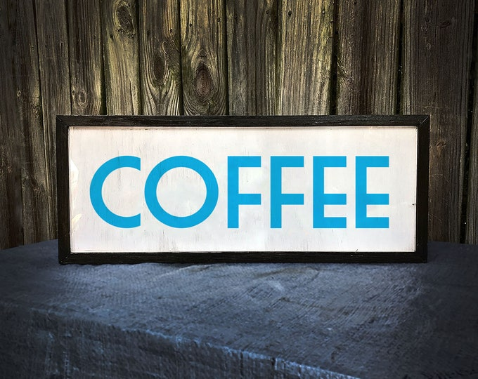 Art Deco Custom Light Box Coffee Shop Sign