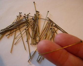 100 - 40mm Bronze Headpins 4cm FD1233