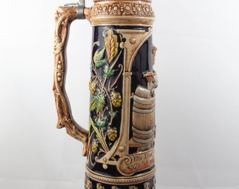 Vintage Very Rare Giant 5 Liters Beer Stein Tankard