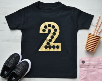 Second Birthday Shirt | 2nd Birthday Outfit Girl | 2nd Birthday Shirt | Toddler Girls Clothes | Birthday TShirt | Glitz 2