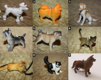Cats and Dogs - Cute House Pet Necklaces and Keychains - SELECT OPTIONS