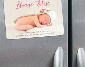 Welcome Baby - Birth Announcement Magnets + Envelopes