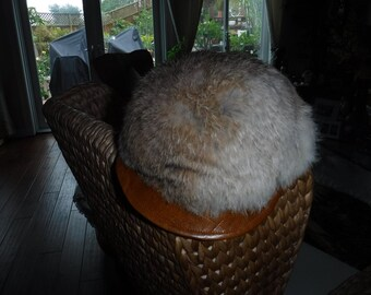 Newsboy Hat Rabbit Fur with bill vintage 1970's