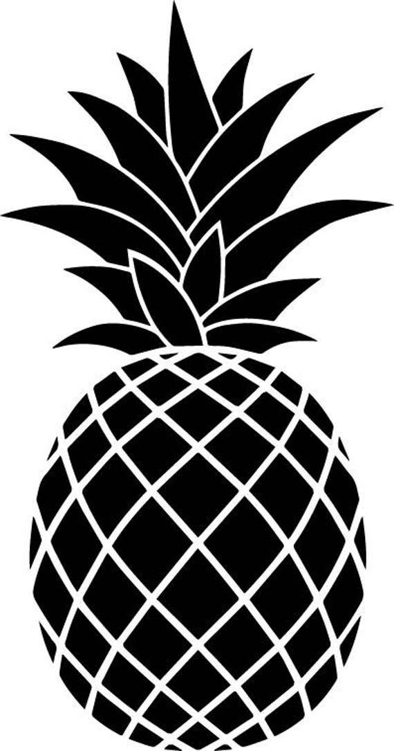 Pineapple SVG - Pineapple Silhouette SVG - Pineapple ...