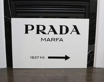 Prada Marfa insprired Print 16x20 on Stretched Canvas