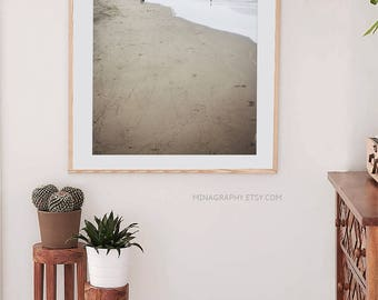 Extra Large Beach Art Print // Landscape Photography // San Francisco Art Photography for the West Coast Home - A Beach Sunset