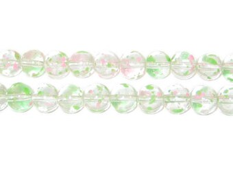 6mm Spring Meadows Season Glass Beads, approx. 75 beads