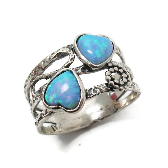 Items Similar To Opal Ring Exquisite Braided Opal: Items Similar To Opal Ring. Romantic Sterling Silver Ring