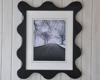 11x14 Funky Picture Frame with Acrylic Glass Backing and Mounting Hardware
