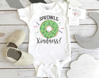 Donut shirt, Sprinkle Kindness, Baby Shower Gift, Donut Onesie®, Funny Baby Gift, Cute Baby Gift, Donut Party, Donut Theme, Baby Shower Idea