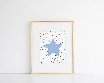 Baby Wall Art Printable // Nursery Decor, Gender Neutral Wall Art, Baby Gift, Star Print, Kids Room Art, Baby Poster, Gender Neutral Baby