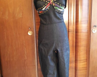 1950s jumpsuit repro Mexican jeans style