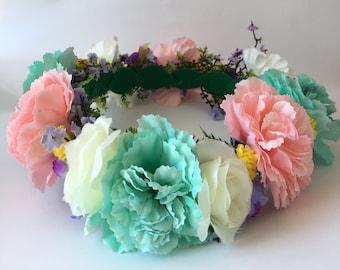 Pastel Floral Flower Crown