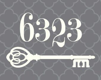 Custom Address printable, skeleton key, quatrefoil, personalized, housewarming, wedding, bridal shower, Christmas gift
