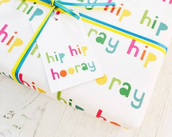 Hip Hip Hooray Wrapping Paper Set