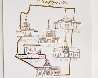 Arizona Temple State(Rose Gold)