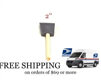 Foam Brushes-2 Inch Foam Brush for Painting- Staining- Varnishing-Choice of 6 to 25 Brushes-Made in the USA by Jen Manufacturing