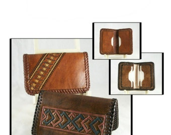 PATTERN - Leather pattern - Business Card Wallet - PDF pattern download ONLY