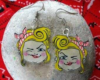 pretty pin-up earrings!