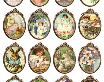 Framed Easter...Vintage Images...Digital Collage Sheet