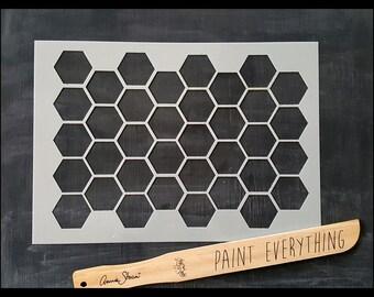 Honeycomb Pattern Reusable Stencil