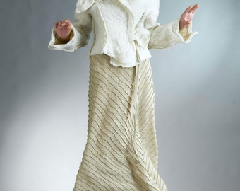 Long Skirt for Women / Linen Clothing / A Line Skirt / Long Flowy Skirt / Tan Skirt / Womens Skirt / Linen Skirt / Womens Long Skirt