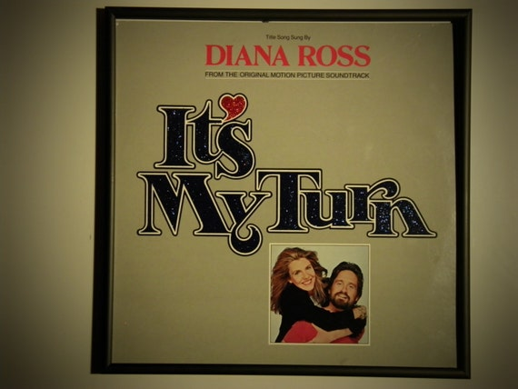 """Glittered Record Album - Diana Ross - Motion Picture Soundtrack """"It's My Turn"""""""