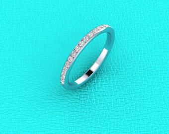 2mm channel set diamond band