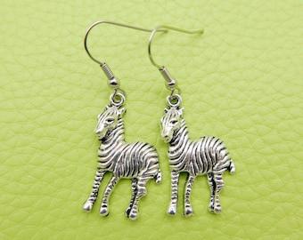 Zebra Earrings stainless steel