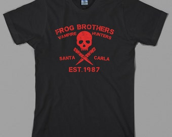 Lost Boys T Shirt - frog brothers, vampire hunters, santa carla, killers, 80s movie, the - Graphic Tee, All Sizes & Colors