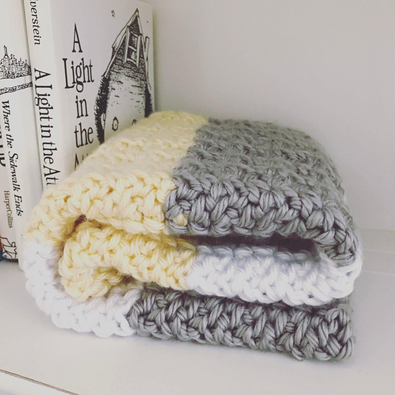 Crochet Baby Blanket Pattern - Chunky Love Baby Blanket - Super ...