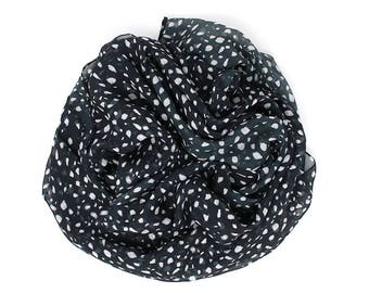 MONARCH 100% Silk Scarf | Black& White | A Portion of Proceeds go to Charity