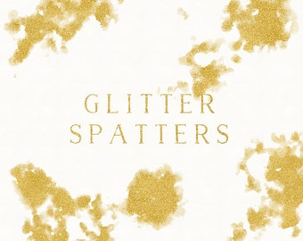 Gold Foil Spatters Clip Art, Gold Splotches Overlay, Hand-painted Texture, Gold Foil Strokes Graphics, Spatter Clip Art, Blog header graphic