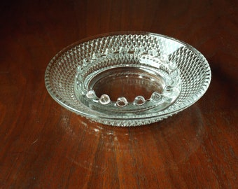 Vintage Ashtray; Glass Dish Candy Dish; Candleholder