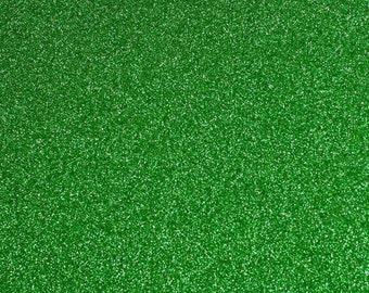 FINE Glitter Fabric. Green. 100cm x 130cm. JR09165