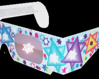 Hanukkah 3d Glasses low as 2.00, Jewish Star of David 3-d glasses Party Favors, Hanukkah Decorations