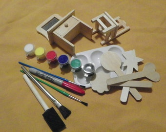 Wooden Vanity and Chair Painting Project - Free Shipping
