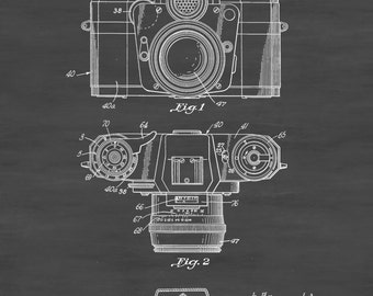 Zeiss Camera Patent - Patent Print, Wall Decor, Photography Art, Camera Art